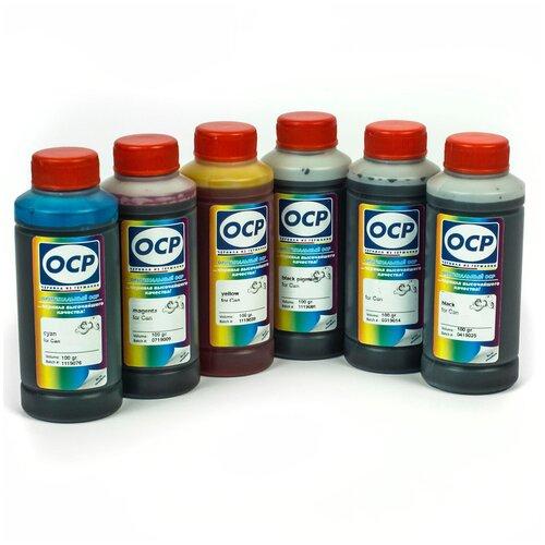 Фото - Чернила OCP (краска) для принтеров Canon PIXMA: MG7740, TS8040, TS9040 100x6 чернила краска для заправки принтера hp envy 6432 набор оптима