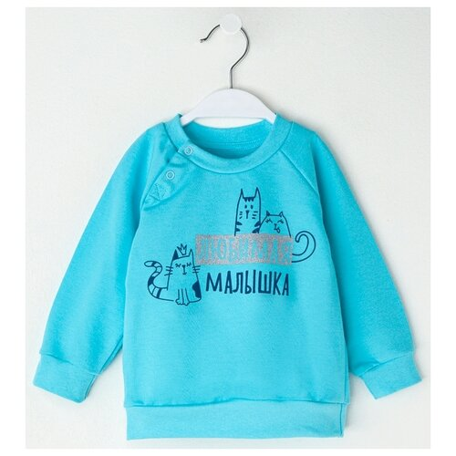 Купить Свитшот Крошка Я размер 98-104, голубой, Толстовки