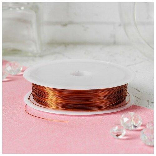 Купить Проволока для бисероплетения диаметр 0, 4 мм, длина 30 м, цвет медный 3801460, Сима-ленд, Фурнитура для украшений