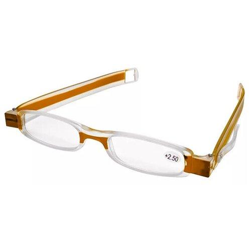 Фото - Очки увеличительные складные +4,0 коричневая оправа 3d очки