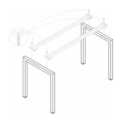 Опоры МЕТАЛЛ 50х25 мм к столам