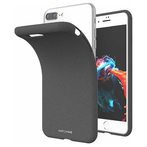 Чехол iPhone 7 Plus / 8 Plus / айфон 7+, 8+ Жидкий камень, Dark Grey, Matchnine