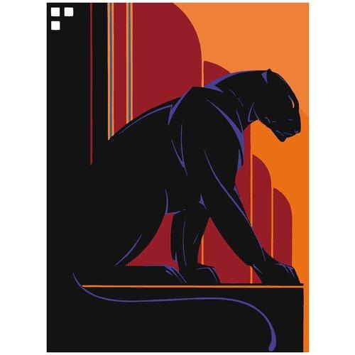 Картина по номерам Пантера Постер Арт Деко, 70 х 90 см