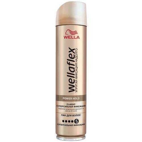 Купить Wella Лак для волос Wellaflex Классический суперсильной фиксации, экстрасильная фиксация, 250 мл