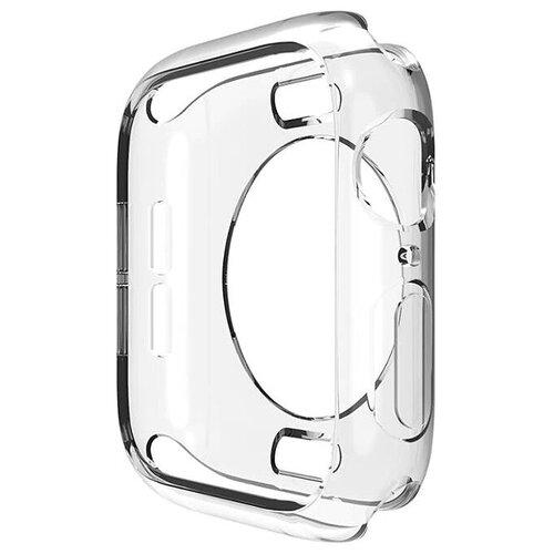 Чехол-кейс-пенал MyPads для умных смарт-часов Apple Watch 38mm тонкий силиконовый прозрачный