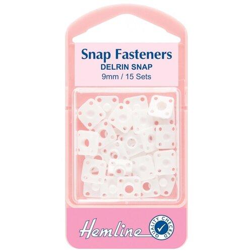 Фото - Hemline Кнопки пришивные пластиковые квадратные 423, белый, 9 мм, 15 шт. prym кнопки пришивные квадратные 347125 белый 9 мм 15 шт