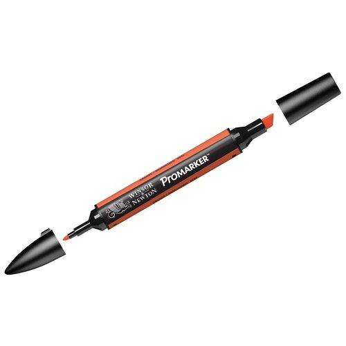 Купить Маркер художественный Winsor&Newton двухсторонний, Pro, пулевидный/скошенный, 2/7 мм, оранжевый (203449), Winsor & Newton, Фломастеры и маркеры