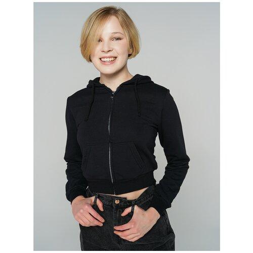 Толстовка на молн с капюш ТВОЕ 80974 размер XL, черный, WOMEN