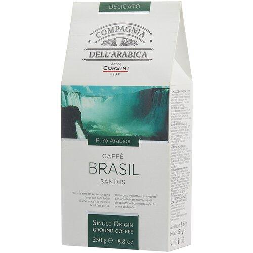 Фото - Кофе молотый Compagnia Dell` Arabica Brasil Santos, 250 г кофе молотый samba cafe brasil rico 250 г