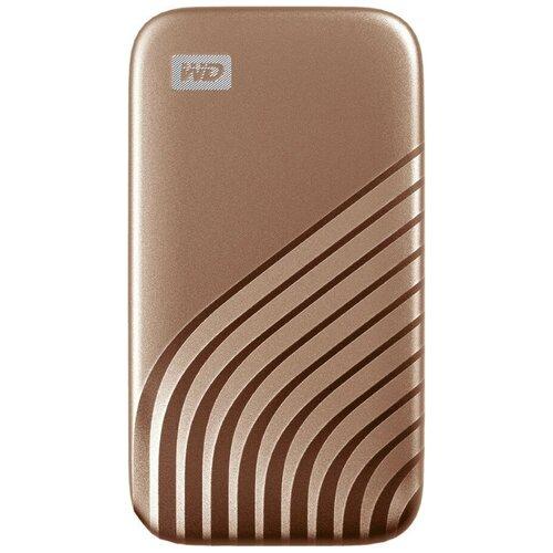Фото - Внешний SSD WD 2TB My Passport SSD USB 3.2 Gen 2 - Gold (WDBAGF0020BGD-WESN) внешний диск ssd wd my passport wdbagf0020bgy wesn 2тб серый