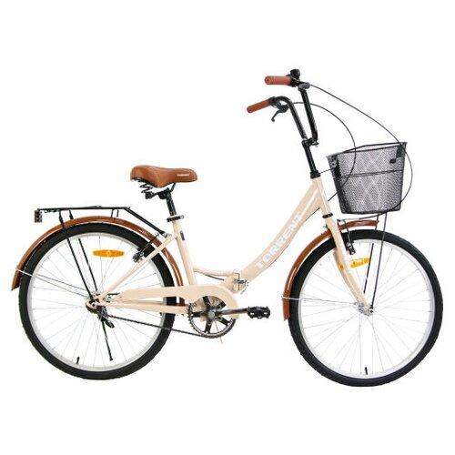 Велосипед Torrent Discоvery + корзина, бежевый