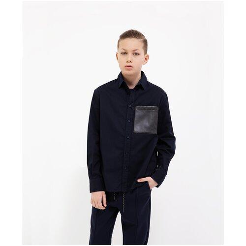 Рубашка Gulliver размер 140, синий