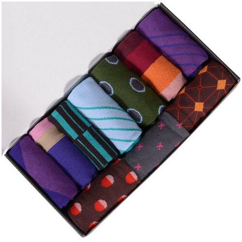 Набор из 10 пар мужских носков (нева-сокс) №НС12 микс, размер 25