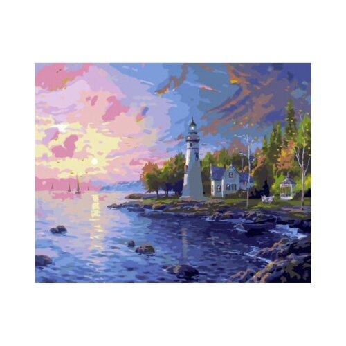 Картина по номерам Paintboy «Маяк на закате» (холст на подрамнике, 40х50 см) картина по номерам paintboy маленькая деревушка холст на подрамнике 40х50 см