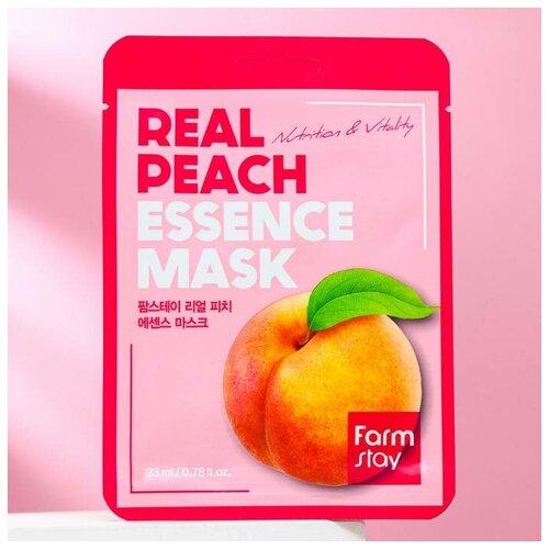 Купить Тканевая маска для лица FarmStay, с экстрактом персика, 23 мл