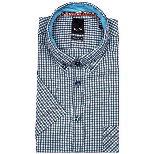 Рубашка pure размер XXL зеленый/голубой