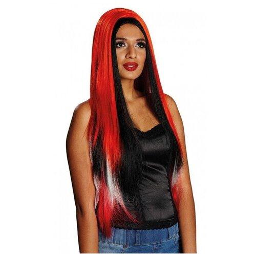 Купить Трехцветный парик с длинными волосами (10015), RUBIE'S