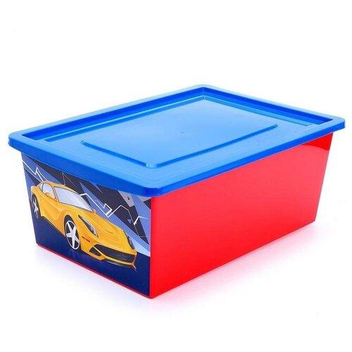 Соломон Ящик для игрушек «Тачки», объём 30 л, цвет красный