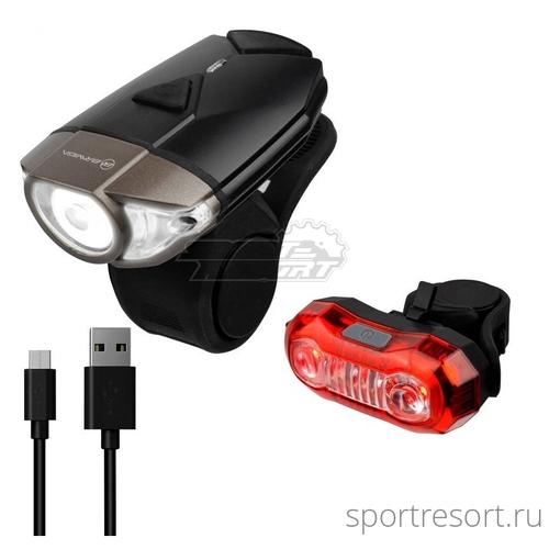 Комплект фонарей Briviga USB Bike Light Set EBL-039 / EBL-2265A (380/40 lm)