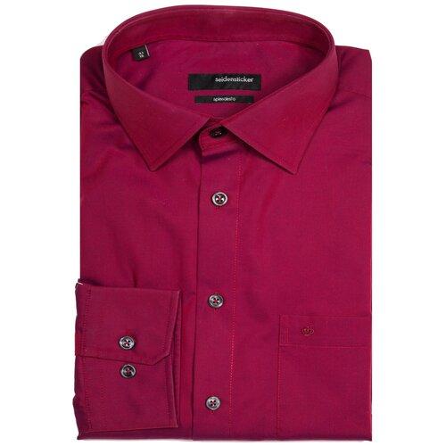 Рубашка Seidensticker размер 40 малиновый