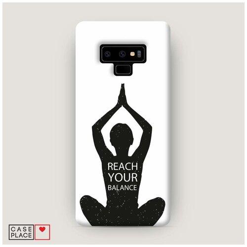 Чехол Пластиковый Samsung Galaxy Note 9 Йога баланс