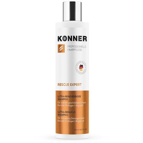 KONNER Шампунь RESCUE EXPERT для поврежденных волос, восстановление с кератином, коллагеном, арганой, 250мл недорого