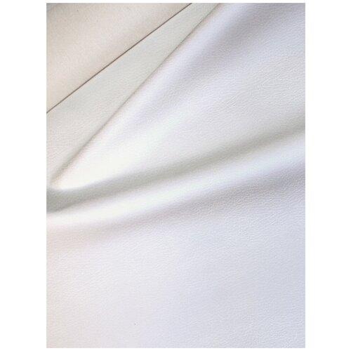 Экокожа автомобильная, искусственная кожа, гладкая - 1,4х15 м, цвет: белый