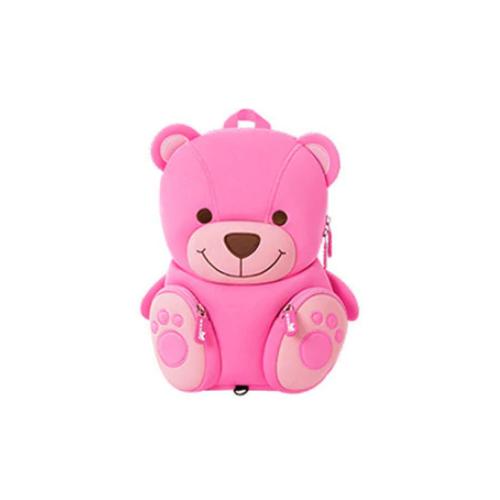 Купить Детский рюкзачок розовый Медвежонок c поводком, Nohoo, Рюкзаки, ранцы