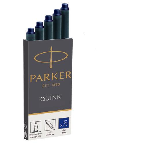 h parker 4 compositions op 36 Картридж PARKER QUINK Z11 синие чернила для ручек перьевых (5ШТ)
