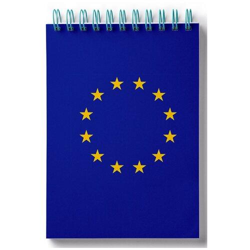 Блокнот для записей, листы в клетку Флаг Евросоюза