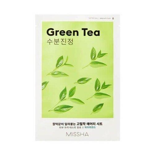 Фото - Тканевая маска для лица Missha с экстрактом зеленого чая - Airy Fit Sheet Mask (Green Tea) тканевая маска для лица с экстрактом зеленого чая airy fit sheet mask green tea 19г