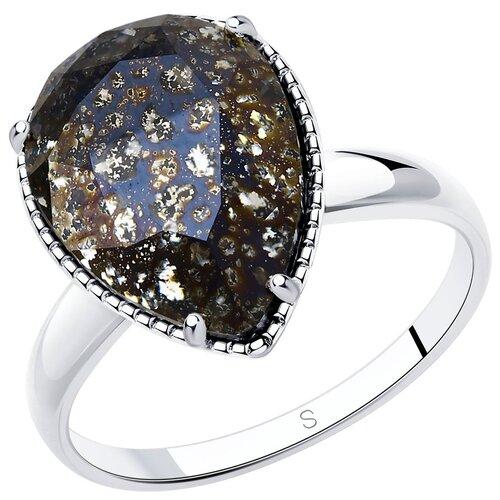 Фото - SOKOLOV Кольцо из серебра с чёрным кристаллом 94012037, размер 16.5 sokolov кольцо из серебра с чёрным кристаллом swarovski 94012037 размер 19 5