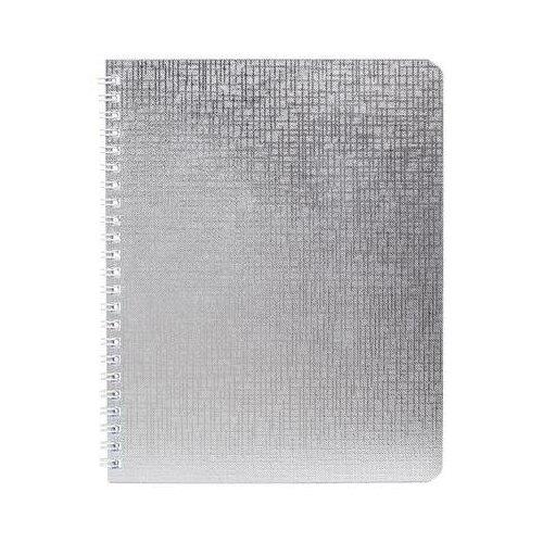 Купить Бизнес-тетрадь Hatber Metallic А5 48 листов серебристая в клетку на спирали (148x210 мм) 7 шт., Тетради