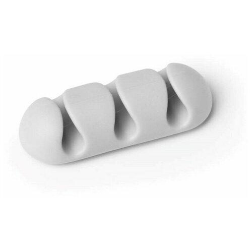 Фиксатор на 3 кабеля до 5мм DURABLE CAVOLINE® CLIP 3, серый, 2шт./уп.