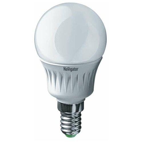 Лампа светодиодная 94 476 NLL-P-G45-5-230-2.7K-E14 5Вт шар 2700К тепл. бел. E14 330лм 220-240В Navigator 94476 (упаковка 10 шт)