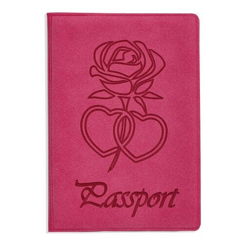 Обложка для паспорта STAFF, бархатный полиуретан,