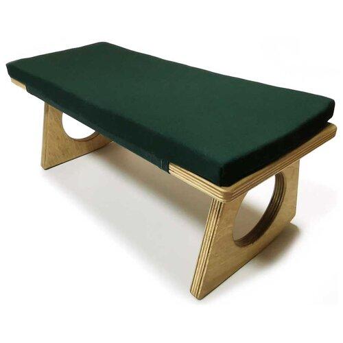 Лавка для йоги Йога СПБ для медитации 42х18х15 см зеленый