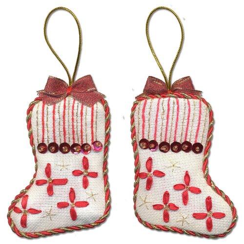 Купить Набор для вышивания PANNA IG-1276 ( ИГ-1276 ) Новогодняя игрушкаСапожок 1 шт., Наборы для вышивания