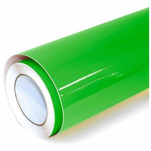 Виниловая рекламная пленка цветная глянцевая - для дизайна интерьера, плоттерной резки и наружной рекламы, цвет - зеленый, 70х152 см
