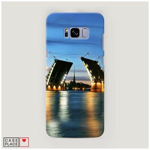Чехол Пластиковый Samsung Galaxy S8 Plus Разведенные мосты в СПб 2