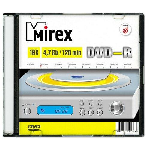 Носители информации DVD-R, 16x, Mirex, Slim/1, UL130003A1S 5 шт.
