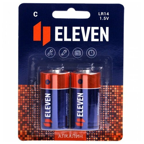 Фото - Батарейка Eleven C (LR14), 2 шт. батарейка c ergolux lr14 alkaline bl 2 lr14 bl2