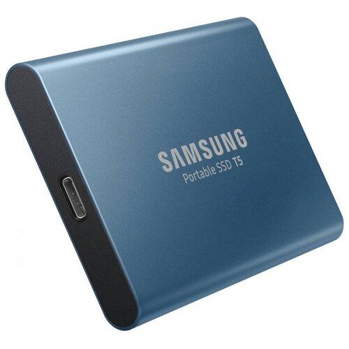 Внешний SSD Samsung T5 500 GB, синий