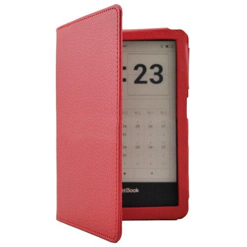 Чехол-обложка MyPads для PocketBook 650 Limited Edition / PocketBook 650 Ultra из качественной эко-кожи закрытого типа с магнитной крышкой красный кожаный