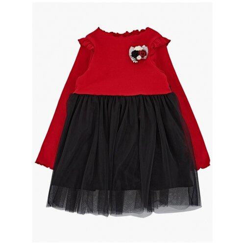 Купить Платье Mini Maxi размер 104, красный/черный, Платья и сарафаны