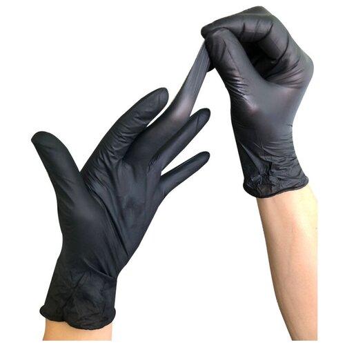 Фото - Перчатки одноразовые нитриловые Wally plastic гигиенические размер S,черного цвета, 50 пар перчатки одноразовые нитриловые черные wally plastic размер m 100 шт 50 пар