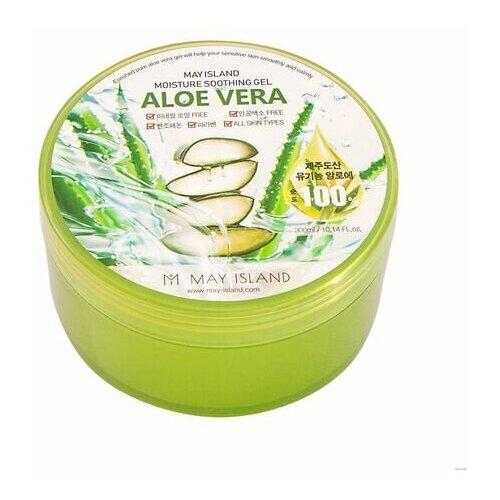 Купить May Island Гель для лица и тела с экстрактом алоэ - Aloe vera purity 100% soothing gel, 300 мл