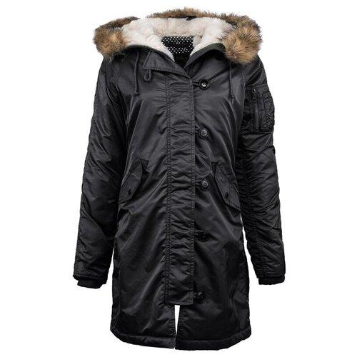 alpha industries куртка Куртка аляска женская зимняя Alpha Industries Elyse Black, L (46/48 РОС)