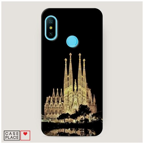 Чехол Пластиковый Xiaomi Redmi 6 Pro Храм святого семейства в Барселоне 2
