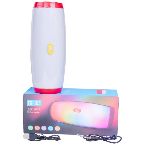 Колонка Bluetooth TG-165, красная / Портативная колонка / Светящаяся колонка / Беспроводная колонка